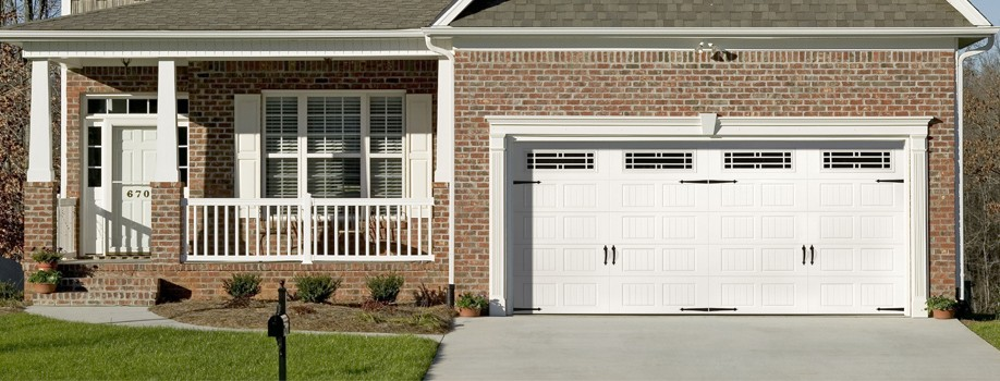 residential home with new garage door